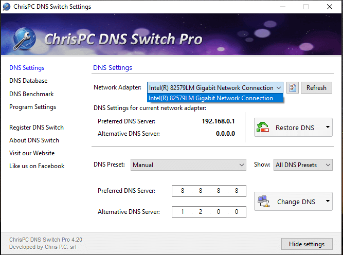 ChrisPC DNS Switch Pro 4.30 Crack With Activation Key download